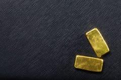 lingot d'or d'or de bar d'opérations bancaires Images stock