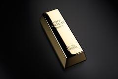 lingot d'or d'or de bar d'opérations bancaires illustration de vecteur