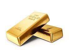 lingot d'or d'or de bar d'opérations bancaires illustration stock