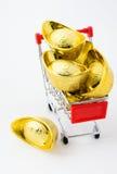 Lingote chinês do ouro Imagem de Stock