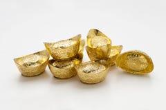 Lingote chinês do ouro Foto de Stock