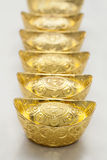 Lingote chinês do ouro Foto de Stock Royalty Free
