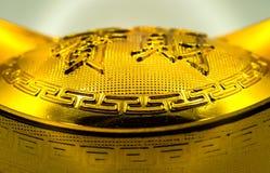 Lingote chinês do ouro Fotos de Stock
