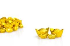 Lingote chino del oro (Yuan Bao) Fotos de archivo