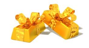 Lingote de oro Foto de archivo libre de regalías