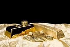 Lingote de oro Fotos de archivo libres de regalías