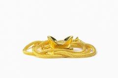 Lingote de oro Imágenes de archivo libres de regalías
