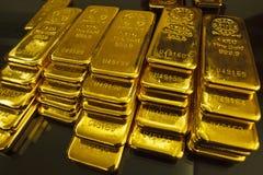 Lingote de ouro imagens de stock