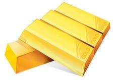 Lingote de ouro Foto de Stock