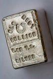 LINGOTE DEL OESTE VIEJO - 6 05 Troy Ounce Silver Bar Fotos de archivo libres de regalías