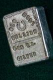 LINGOTE DEL OESTE VIEJO - 6 05 Troy Ounce Silver Bar Imágenes de archivo libres de regalías