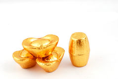 Lingote del oro Imagen de archivo