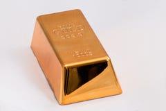 Lingote del oro Bar fotografía de archivo libre de regalías