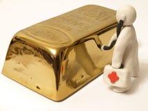 Lingote do ouro Imagem de Stock Royalty Free