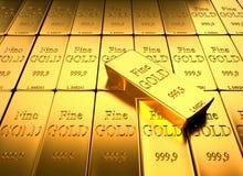 Lingote do ouro Imagens de Stock