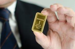 Lingote do ouro Fotos de Stock Royalty Free