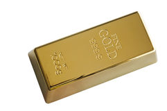 Lingote do ouro Imagens de Stock Royalty Free