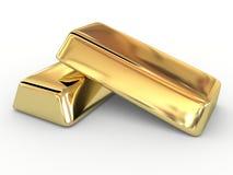 Lingote dourado Foto de Stock