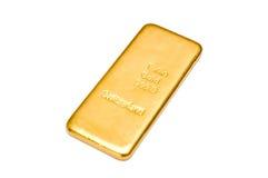 Lingote dourado Isolado Fotos de Stock Royalty Free