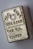 LINGOTE OCIDENTAL VELHO - 6 05 Troy Ounce Silver Bar Fotos de Stock Royalty Free