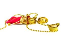 Lingotes chinos del oro Fotos de archivo libres de regalías