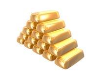 Lingotes de oro Fotos de archivo libres de regalías