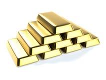 Lingotes de ouro Imagens de Stock