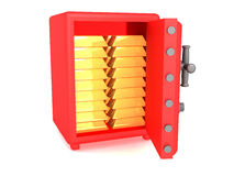 Lingotes de ouro Fotografia de Stock