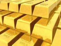 Lingotes de ouro Fotografia de Stock Royalty Free