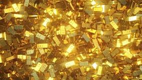 Lingotes de ouro brilhantes ilustração royalty free