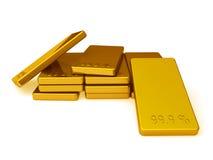 Lingotes del oro Imágenes de archivo libres de regalías