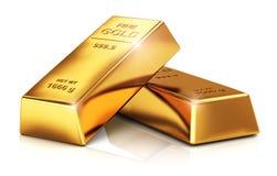 Lingotes del oro stock de ilustración