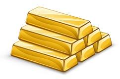 Lingotes del oro Foto de archivo