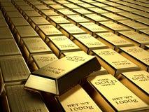 Lingotes del oro Foto de archivo libre de regalías