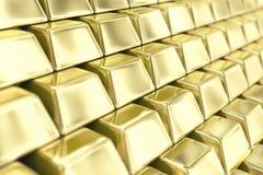 Lingotes del oro Fotos de archivo
