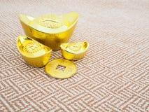 Lingotes del oro Fotos de archivo libres de regalías
