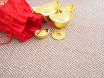 Lingotes del oro Imagenes de archivo