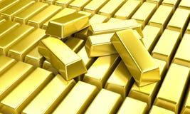 Lingotes do ouro Imagens de Stock Royalty Free