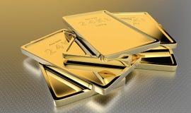 lingotes do ouro 24kt ilustração royalty free