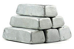 Lingotes do zinco imagem de stock royalty free