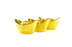 Lingots chinois d'or Photos stock