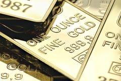 Lingots d'or images libres de droits