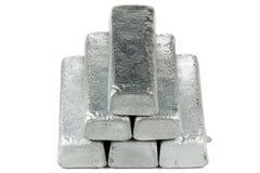 Lingots de zinc photographie stock libre de droits