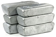 Lingots de zinc Photo stock