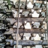 Lingots en aluminium transport photo libre de droits
