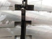 Lingots en aluminium Transport d'aluminium pour l'exportation Images libres de droits