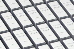 Lingotti del platino Fotografie Stock Libere da Diritti
