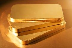 Lingotti dell'oro Fotografie Stock