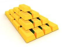 Lingotti dell'oro Fotografia Stock