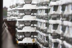 Lingotti di alluminio Immagini Stock